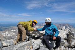 Rock Climbing Photo: another summit with my buddy Tom on the Grand