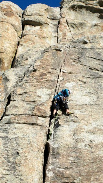 Rock Climbing Photo: city of rocks adolescent homosapien 5.8 trad I thi...