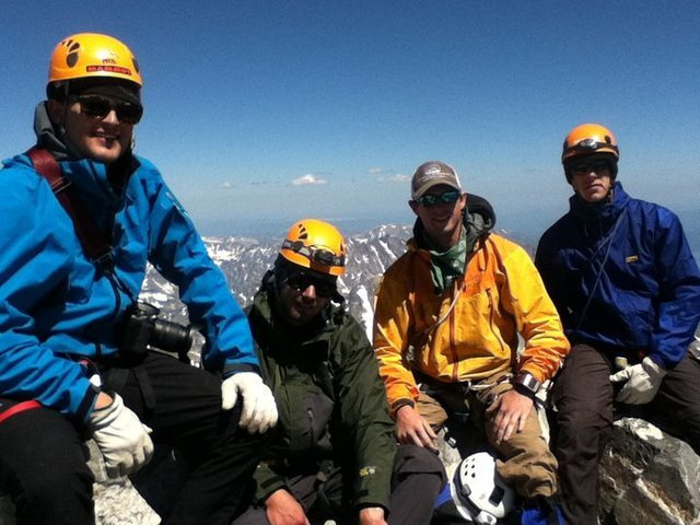 Rock Climbing Photo: Summit with some buddies on top of the Grand