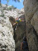 Rock Climbing Photo: fat finger frenzy in Lander. So much fun.