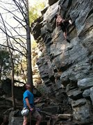 Rock Climbing Photo: down in wilsons in NC
