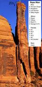 Rock Climbing Photo: Repo Man topo