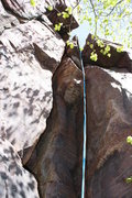 Rock Climbing Photo: Follow the rope straight up.