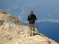 Rock Climbing Photo: Near the summit of Mt Timpanogos