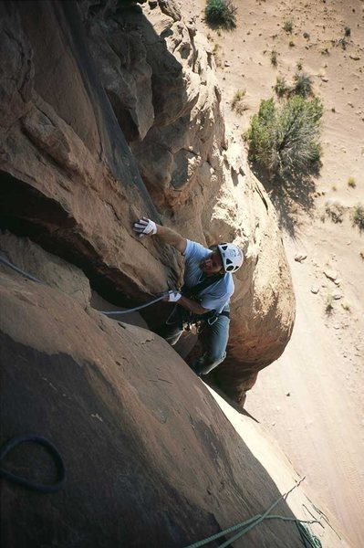 Rock Climbing Photo: Fred Knapp, pitch 1.