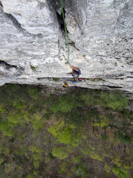 Rock Climbing Photo: Looking down from the summit