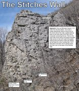 Rock Climbing Photo: Stitches Wall topo. Ratings are the consensus rati...