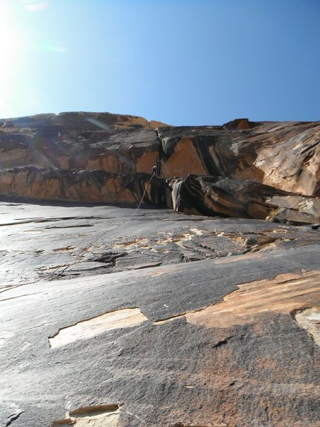 Rock Climbing Photo: This photo puts the crux roof into perspective.