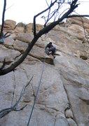 Rock Climbing Photo: Seth on UNR Crack, 5.7