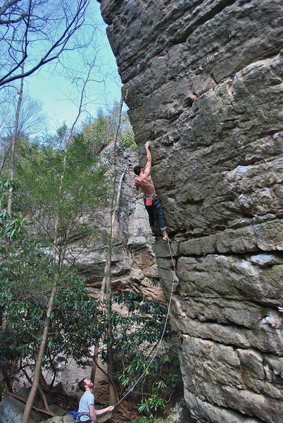 Rock Climbing Photo: Very hard and physical route