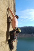 Rock Climbing Photo: Hard initial roof and small fingers the rest of th...