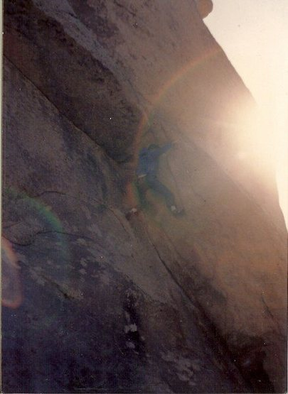 Rock Climbing Photo: Mike Fogarty Solo Right Ski Track 1984