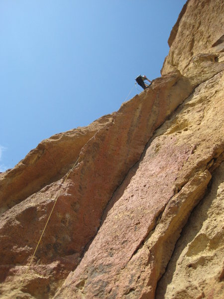 Vance rappelling Time to Shower