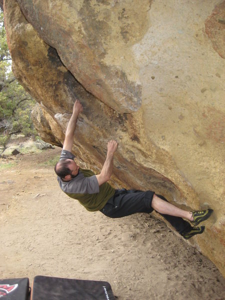 Rock Climbing Photo: Vance next to the Fearless Variation
