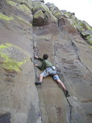 Rock Climbing Photo: Plugging black aliens at the start