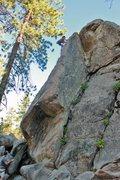 Rock Climbing Photo: Myself on Powder Keg