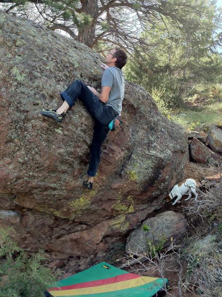 Rock Climbing Photo: The super fun Warm-up problem.