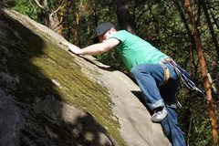 Rock Climbing Photo: Brian leading a line that would eventually kick my...