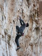 Rock Climbing Photo: Clay Mansfield gripping it, now he needs to rip it...