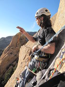 Rock Climbing Photo: smoking at the last belay ..