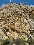 Rock Climbing Photo: Another route that climbs better than it looks.  D...