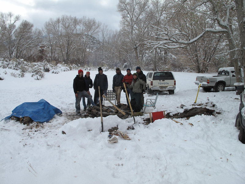it snows some time in the creek