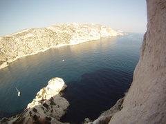 Rock Climbing Photo: Climbing over the sea