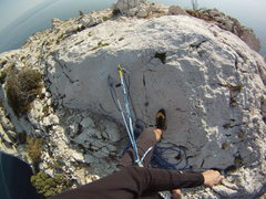 Rock Climbing Photo: Surrounded by the Mediterranean Sea