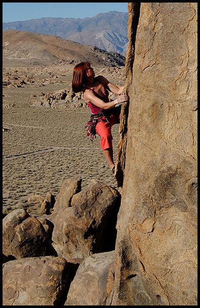 "Aerili on ""The Hanged Man"".<br> Photo by Blitzo."