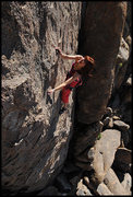 "Rock Climbing Photo: Aerili on ""Friday the 13th"". Photo by Bl..."