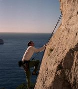 Rock Climbing Photo: Seaside climbing in the Calanques - south of Franc...