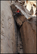 "Rock Climbing Photo: Aerili stretching out on ""Slackjaw"". Pho..."