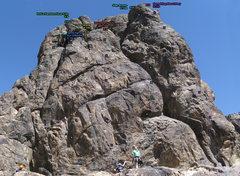 Rock Climbing Photo: Bolt Locations