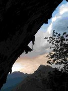 Rock Climbing Photo: Sunset in the cave