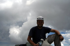 Rock Climbing Photo: Me on the summit of Little Bear Peak after soloing...