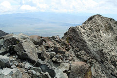 Rock Climbing Photo: I took this photo of Little Bear's ridgeline after...