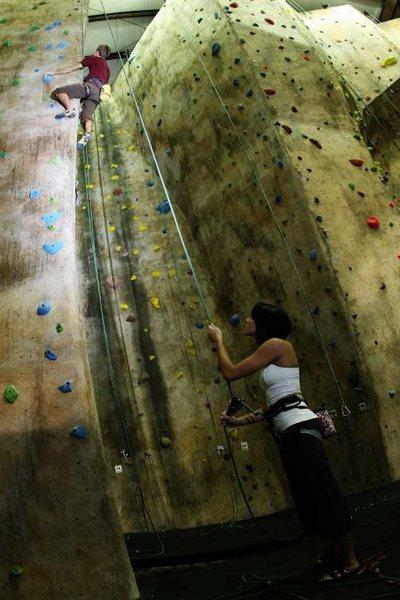 40' roped climbing.
