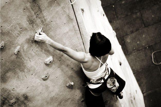 Rock Climbing Photo: 40' climbing wall.