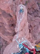 Rock Climbing Photo: Top looking down