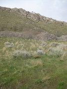 Rock Climbing Photo: The bouldering wall as seen from the Bonneville Sh...