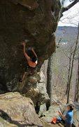 Rock Climbing Photo: jeff in the bouldery start...  photo by Nicole han...