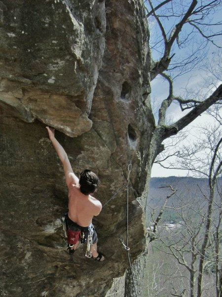 jeff gaining the undercling...<br> photo by nicole hansche