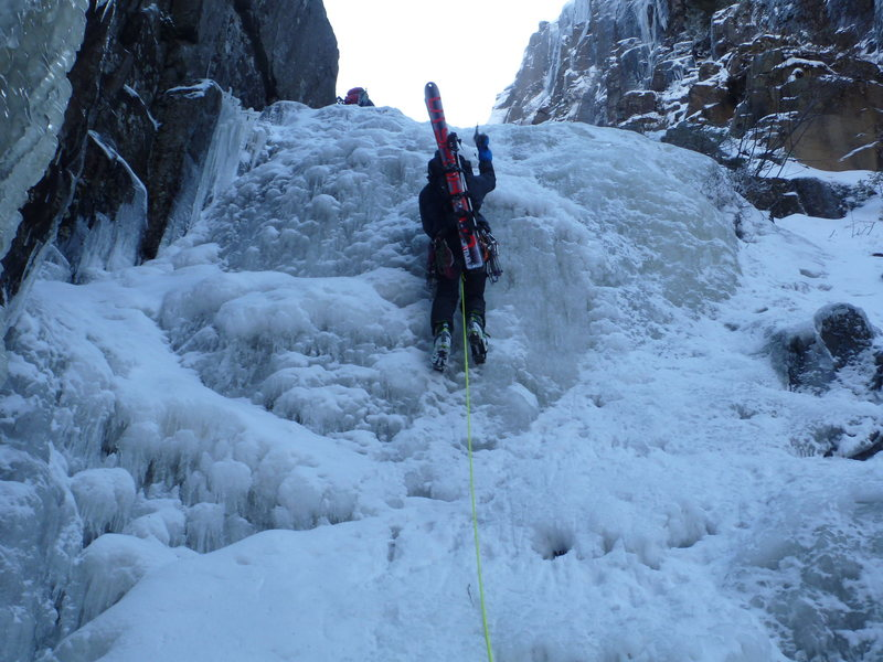 Rock Climbing Photo: One of the lower ice bulges.