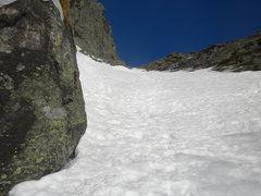 Rock Climbing Photo: Great long ski line