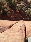 Rock Climbing Photo: Looking down the route from the sharp end