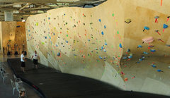 Rock Climbing Photo: bouldering wall at the front