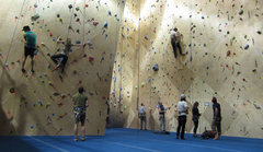 Rock Climbing Photo: Top-rope and lead area at the front