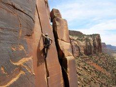 Rock Climbing Photo: © Matt Hoffmann - Mick on Blue Sun