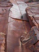 Rock Climbing Photo: © Matt Hoffmann - Matt on Supercrack!