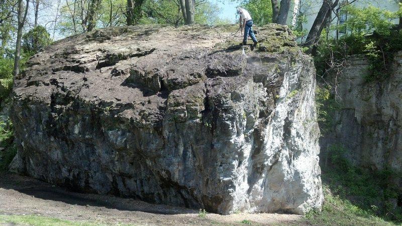 Rock Climbing Photo: Drove through the park today and noticed a crew cl...